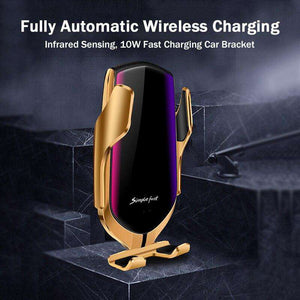 Automatic Car Holder With Wireless Charger - Shopping Gadgets at GadgetRock