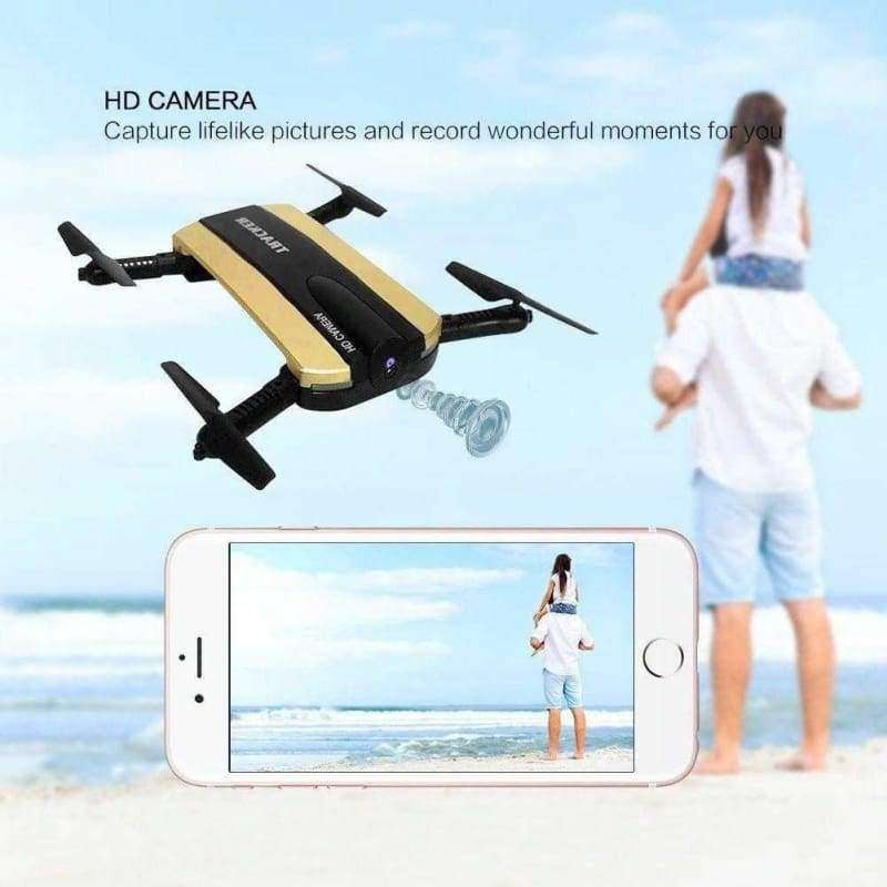 Altitude Hold HD Camera WIFI FPV RC Quadcopter Selfie Foldable Drone - Shopping Gadgets at GadgetRock