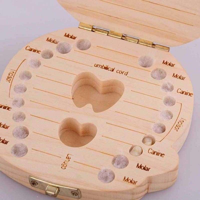 Baby Wood Tooth Box Organizer - eMalleu Gadgets Shop
