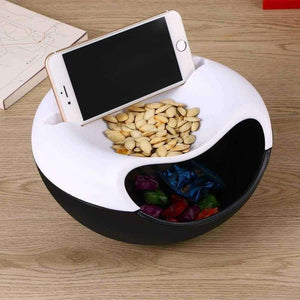Dual-Layer Snack Storage Box & Phone Holder - eMalleu Gadgets Shop