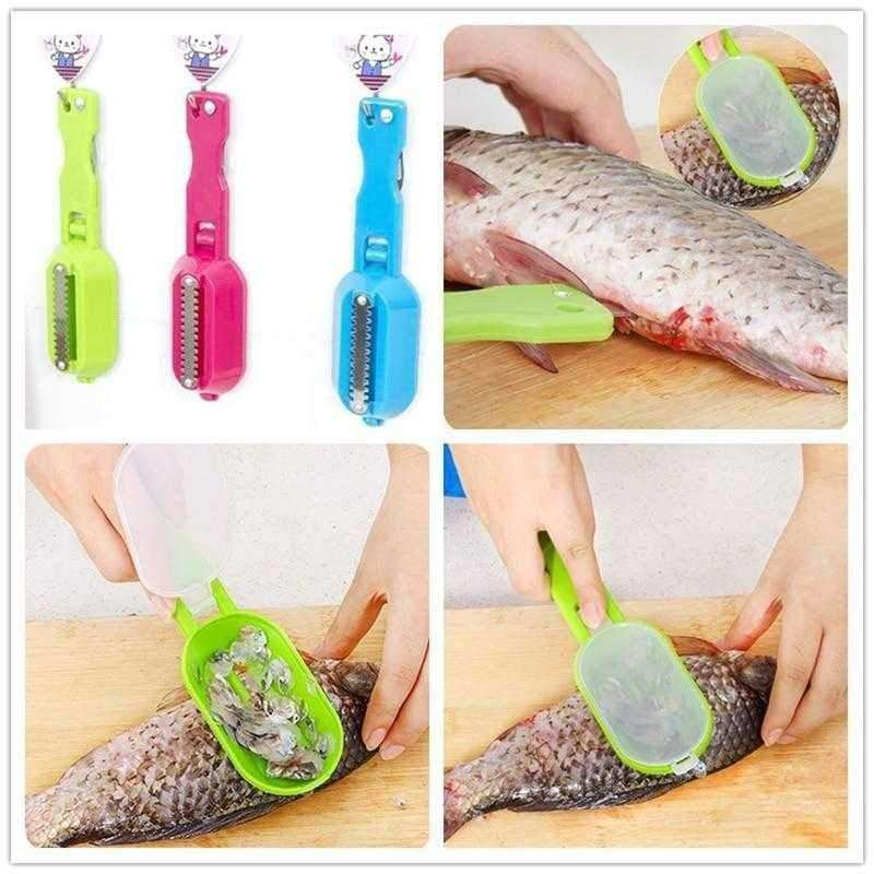 Fish Stainless Steel Scales Skinner - Shopping Gadgets at GadgetRock