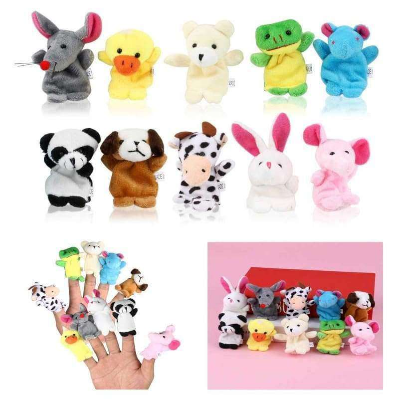 LEORX 10pcs Cartoon Animal Finger Puppets - eMalleu Gadgets Shop