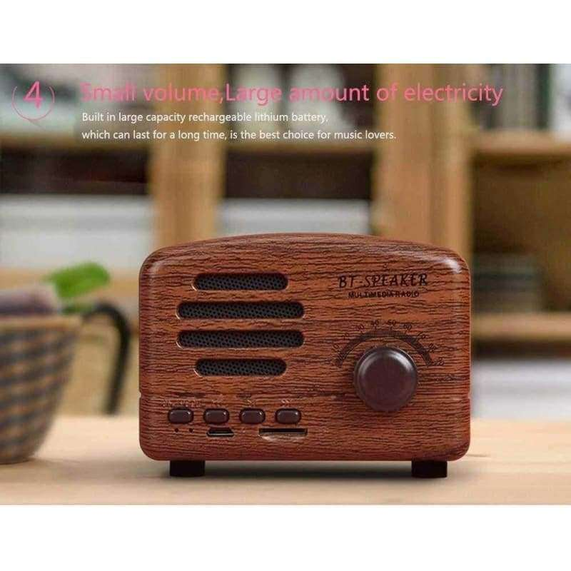 Retro Portable Mini Bluetooth Speaker Wireless - Shopping Gadgets at GadgetRock