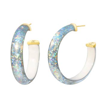 Disco Lucite Hoops