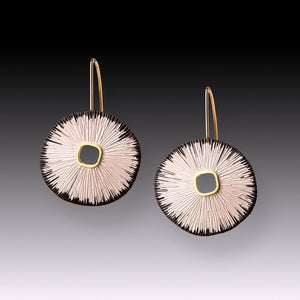 Black Edge Sand Dollar Earrings