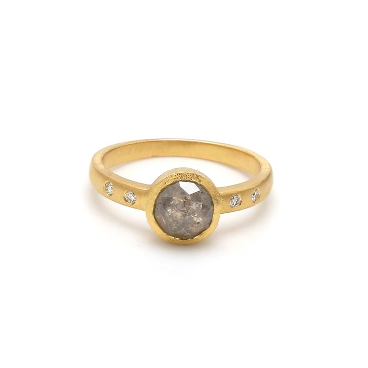 Natural Grey Diamond Ring