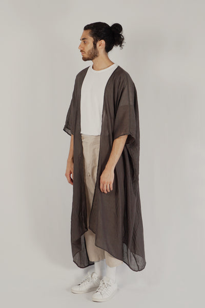 Jenin / Light Abaya — Dark Brown