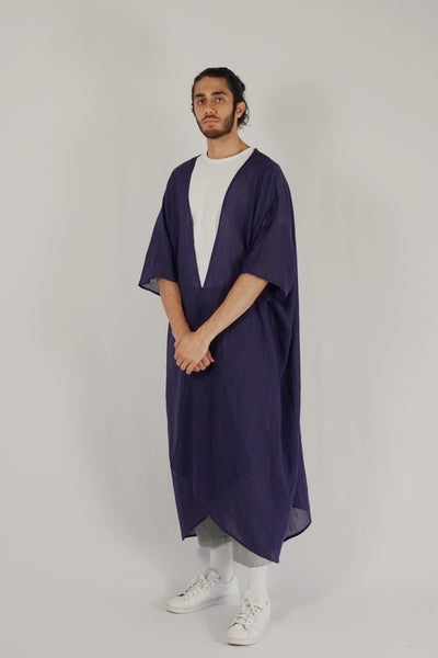 Jenin / Light Abaya — Navy