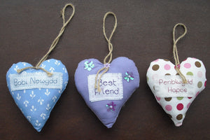 Hand-made Cross-stitch Fabric Heart