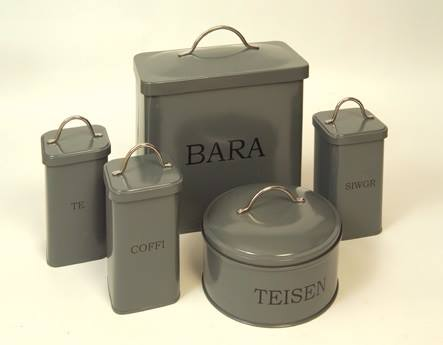 Welsh Kitchen Canisters - Te Coffi Siwgr - set of 3