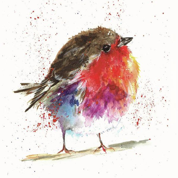 Christmas cards 'Robin Gwlanog' pack of 10