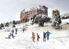 Christmas cards 'Castell Powys' pack of 10