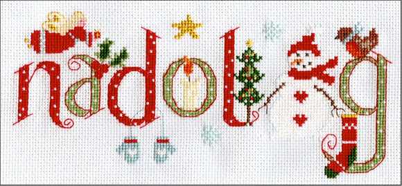 'Nadolig' sampler cross stitch kit