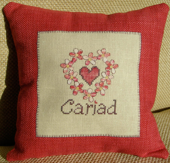 'Cariad' cushion cross stitch chart