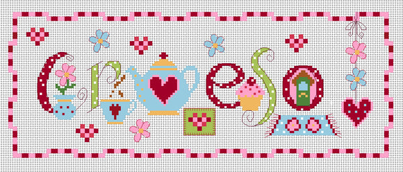 'Croeso' sampler cross stitch chart