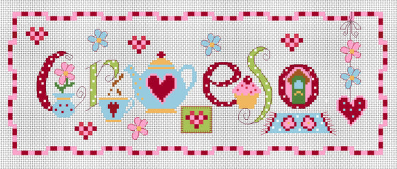 'Croeso' sampler cross stitch kit