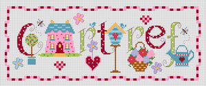 'Cartref' sampler cross stitch chart