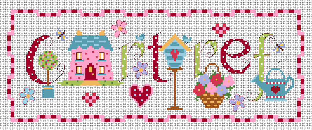Cartref sampler cross stitch kit