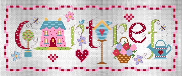 'Cartref' sampler cross stitch kit