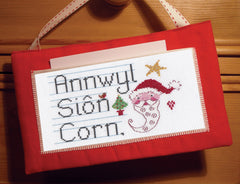 'Annwyl Siôn Corn' cross stitch kit