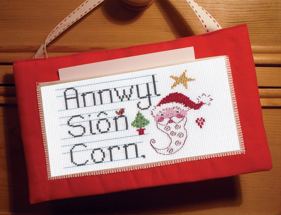 Annwyl Siôn Corn cross stitch chart