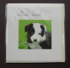 New baby card 'Babi Bach' Puppy