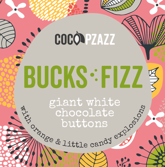 Welsh Giant White Chocolate Buttons - Bucks Fizz 96g