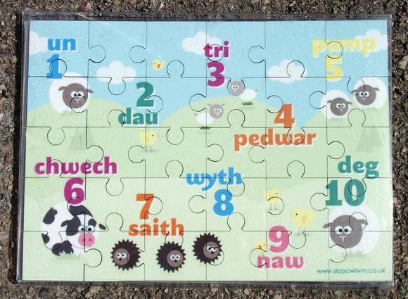 Jigsaw - Count to 10 in Welsh