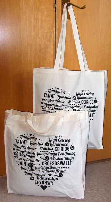 Natural Cotton Shopping Bag 'Yr Ysgub'