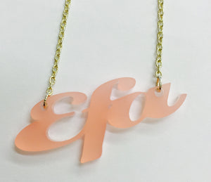 Laser Cut Acrylic Name Necklace - Efa