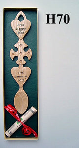 Two Hearts and Celtic Cross Lovespoon