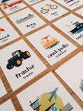 Welsh Travel, Transport & Movement Flash Cards