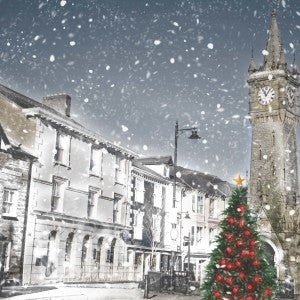 Christmas cards 'Machynlleth' pack of 10