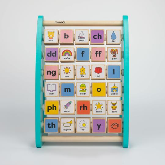 Welsh Wooden Alphabet Abacus