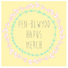 Birthday card 'Pen-blwydd Hapus Merch' daughter wreath