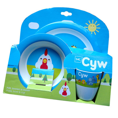 Cyw Plate, Bowl & Cup Set
