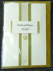 Birthday card 'Penblwydd Hapus Dad' father