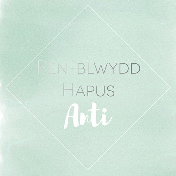 Auntie birthday card 'Pen-blwydd hapus Anti'