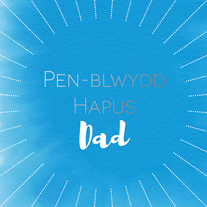 Dad birthday card 'Pen-blwydd hapus Dad'