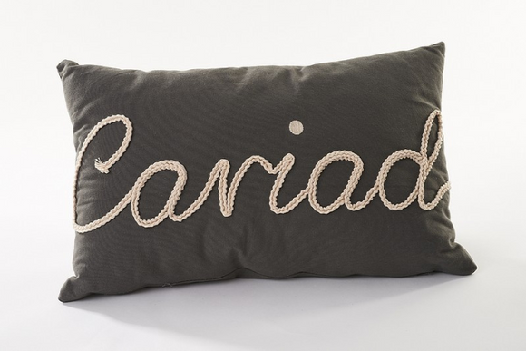 Large Rectangular Cushion - Cariad or Cartref