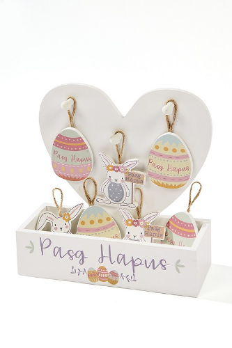 Easter 'Pasg Hapus' hanging plaque