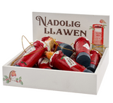 """Nadolig Llawen"" hanging postbox Christmas decoration"