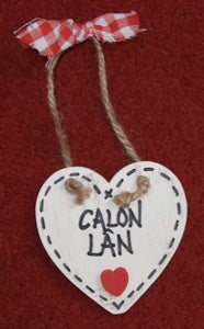 Hanging heart plaque - Small