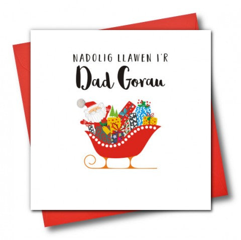 Christmas Card ' Nadolig Llawen i'r Dad Gorau'  Merry Christmas to the Best Dad,