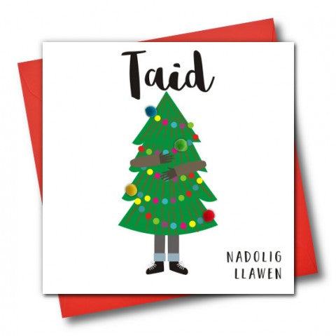Christmas Card 'Taid, Nadolig Llawen' Happy Christmas Grandad,