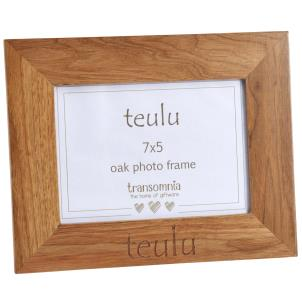 Oak photo frame 7x5 - 'Teulu'
