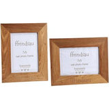 Oak photo frame 7x5 - 'Ffrindiau'