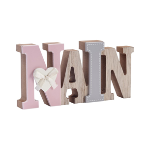 'Nain' wooden word block