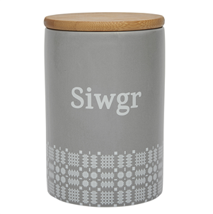 Welsh Ceramic Kitchen Canisters - Te Coffi Siwgr - set of 3
