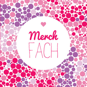 New baby card 'Merch fach' pink